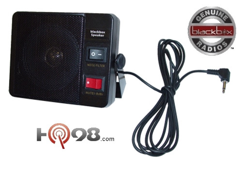 The Blackbox Mobile Radio 3 Watt External Speaker.  This speaker is great for noisy environments when you need to hear someone calling.