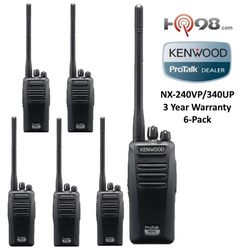 Kenwood's NX-240V16P/340U16P 16 channel 5 Watt portable radios operate in either analog FM or NXDN® digital modes.