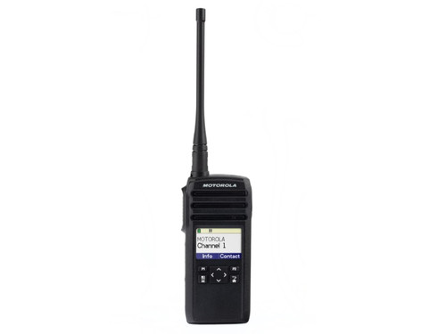 The DTR600/700 is a 900 MHz 1 Watt radio that provides greater coverage than comparable analog radios. Up to 350,000 square feet or 30 floors indoors.