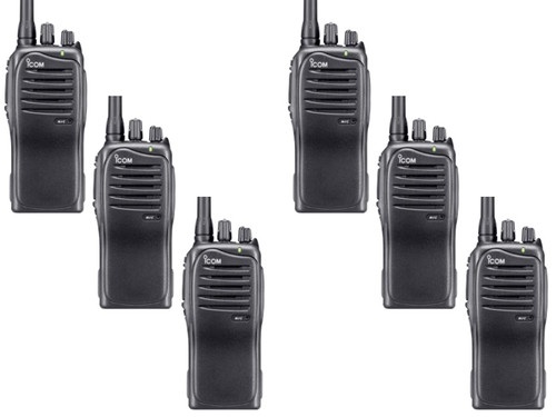 The Icom IC-F3011-41-RC business two way radio is a heavy duty 5 watt 136-174 MHz VHF radio designed for daily use while being very practical and a six pack is perfect.