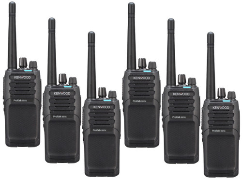 Kenwood NX-P1302AUK two way radio offers 64 channels, 2 watts of power, and a lithium battery and great Mixed-use coverage. Things go better with a 6 pack.