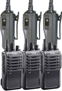 ICOM 6-Pack of Business IC-F4001 16CH UHF Radios
