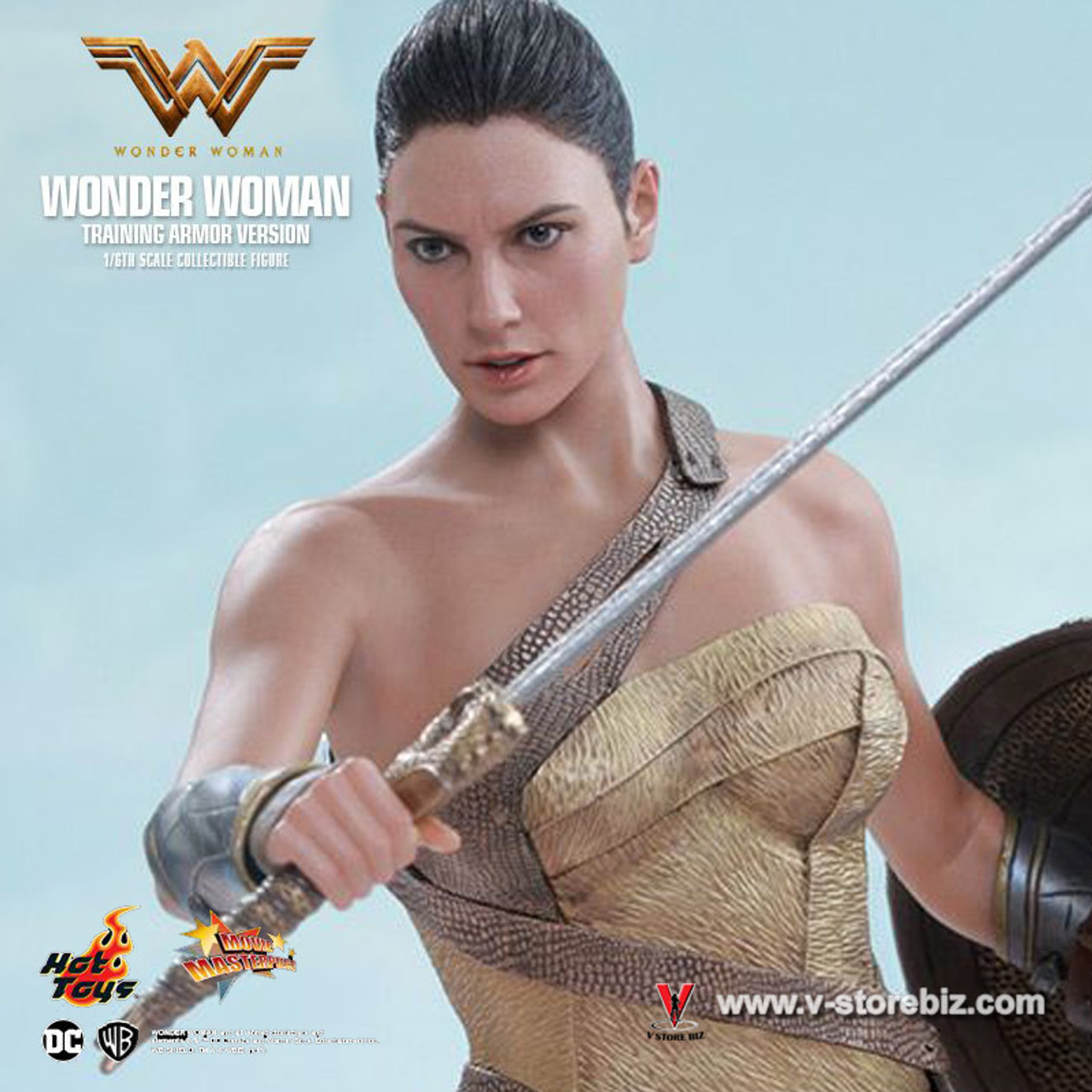 Hot Toys MMS424 Wonder Woman Gal Gadot Training Armor Version Figure Sword Stand