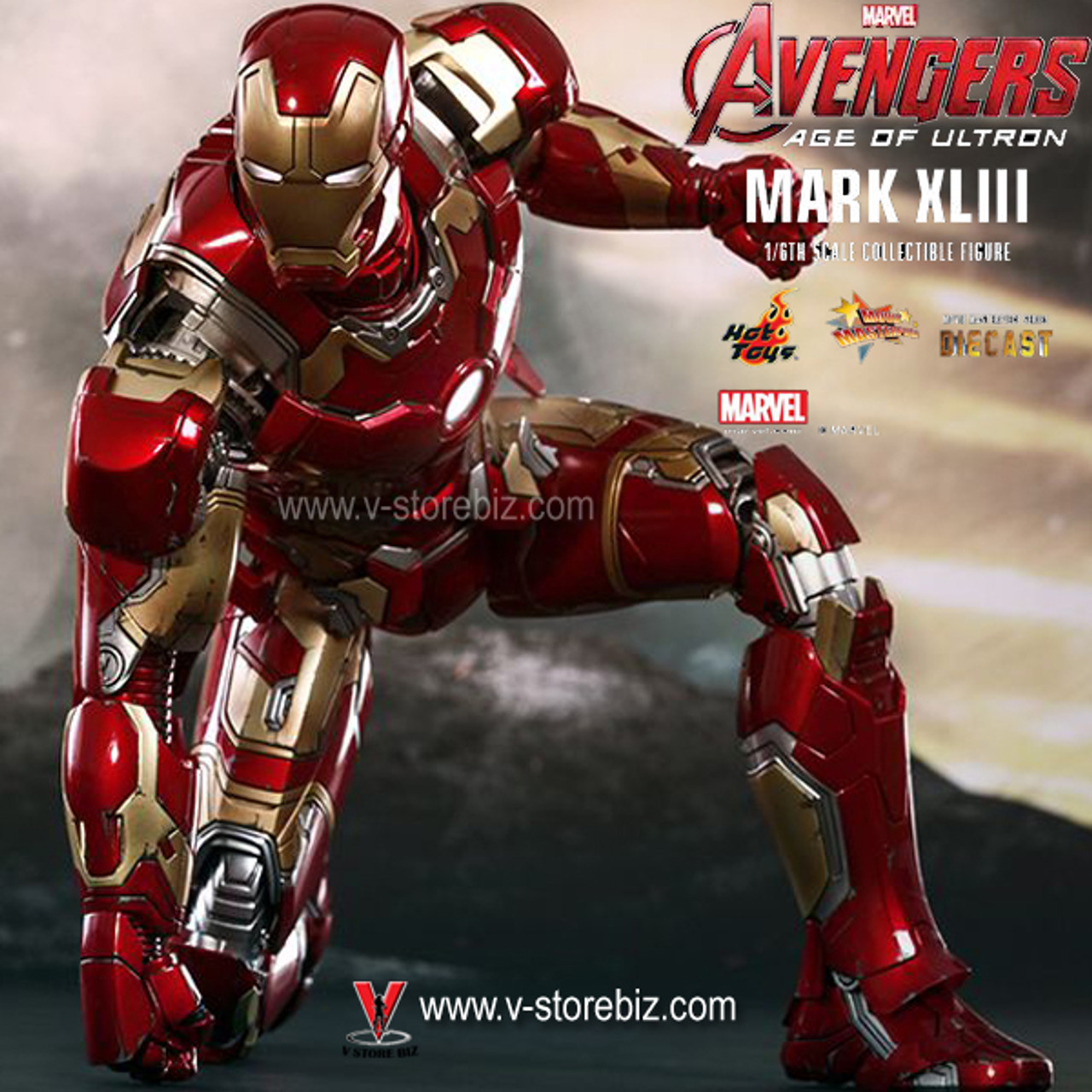 Hot Toys MMS461D21 Iron Man 2 Mark 4 IV Diecast 1//6 Tony Stark Downley Ready