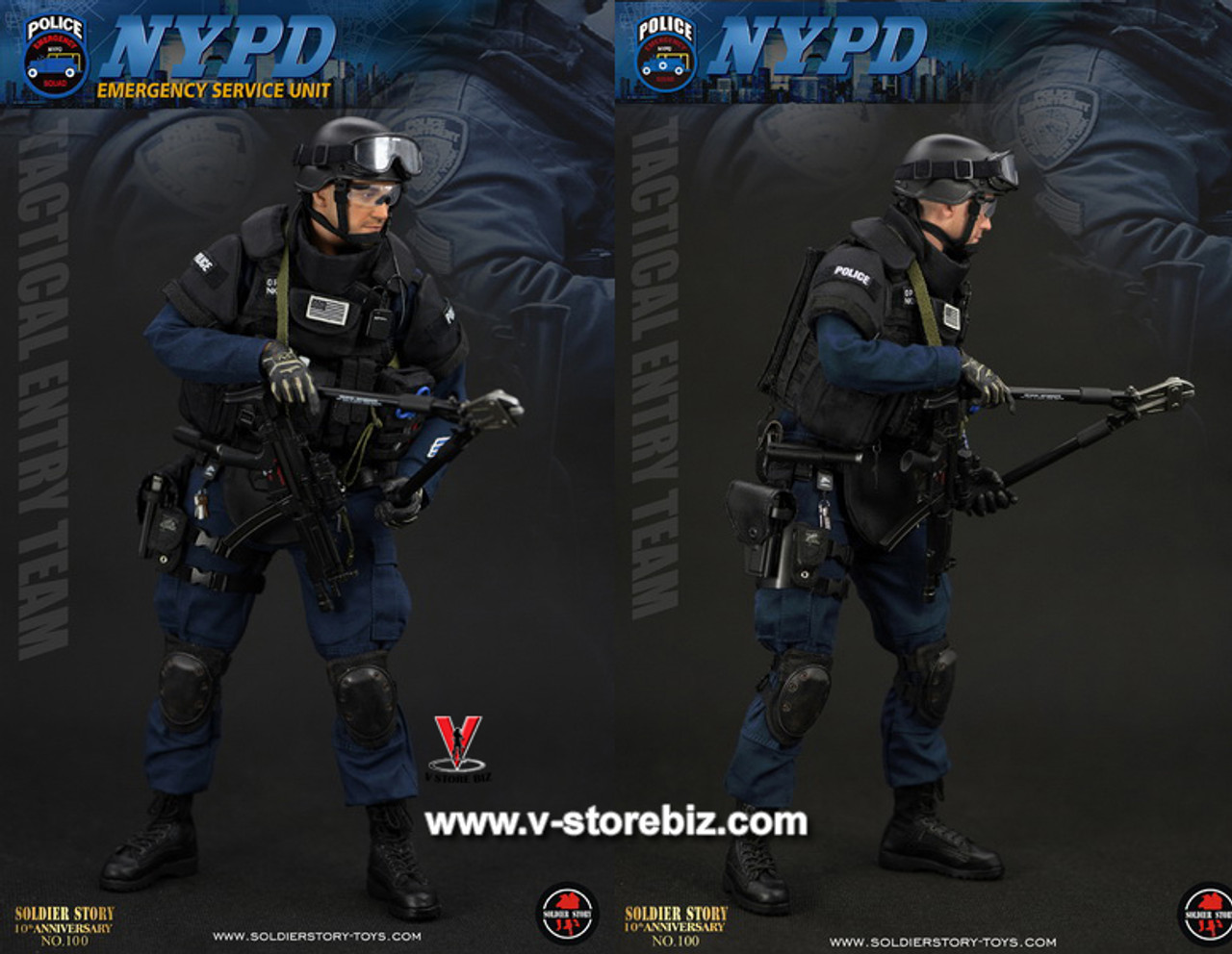 Police ESU Entry Unit 1//6 Scale Soldier Story Action Figures Scissor and Pen