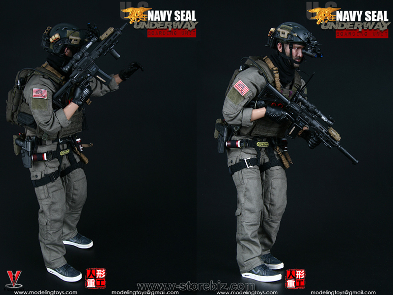 Modeling Action Figures Navy SEAL Boarding Unit 1//6 Scale Bungee w// Clip