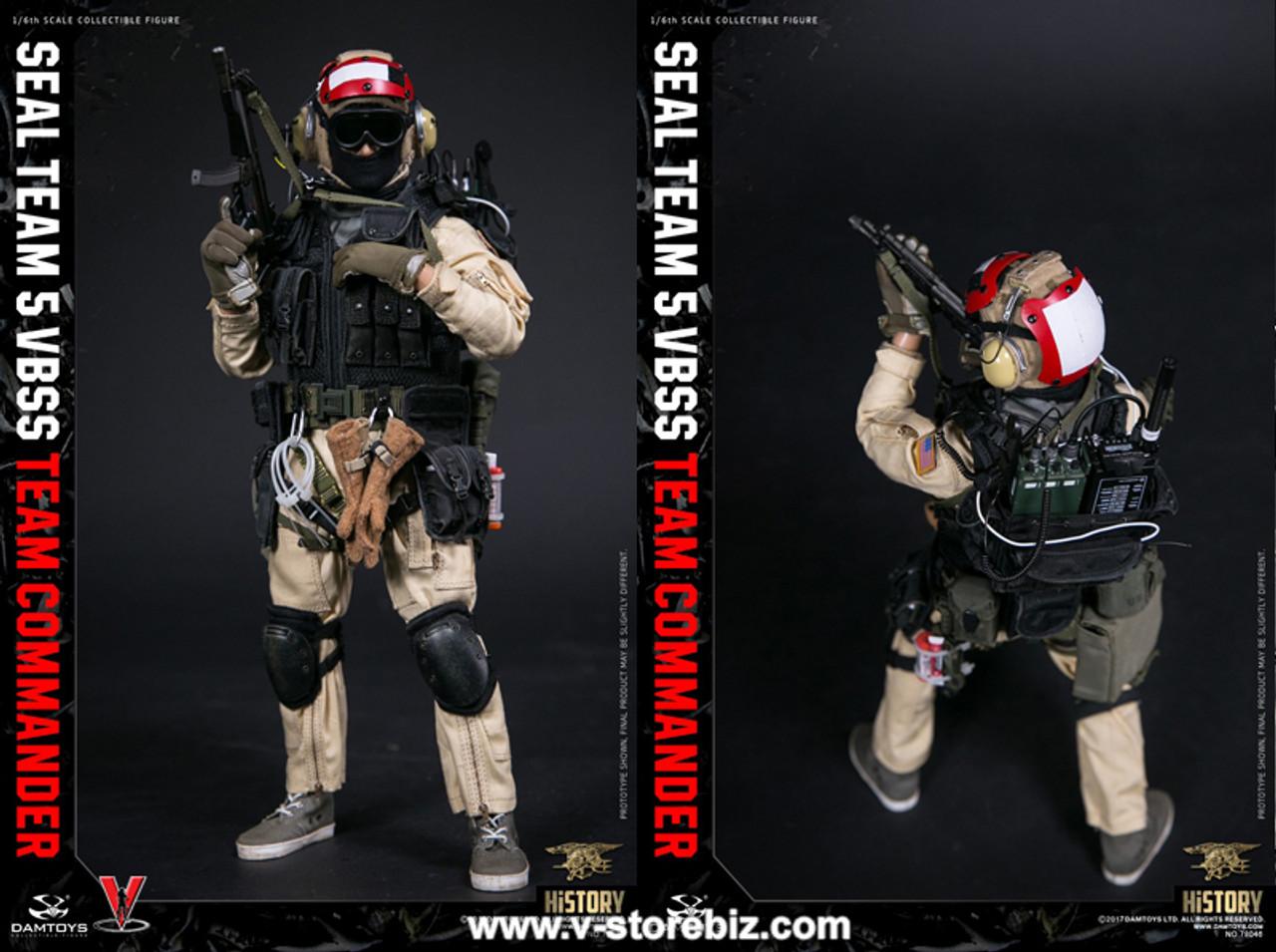 Damtoys Action Figures VBSS Team Commander MP5 Submachine Gun 1//6 Scale