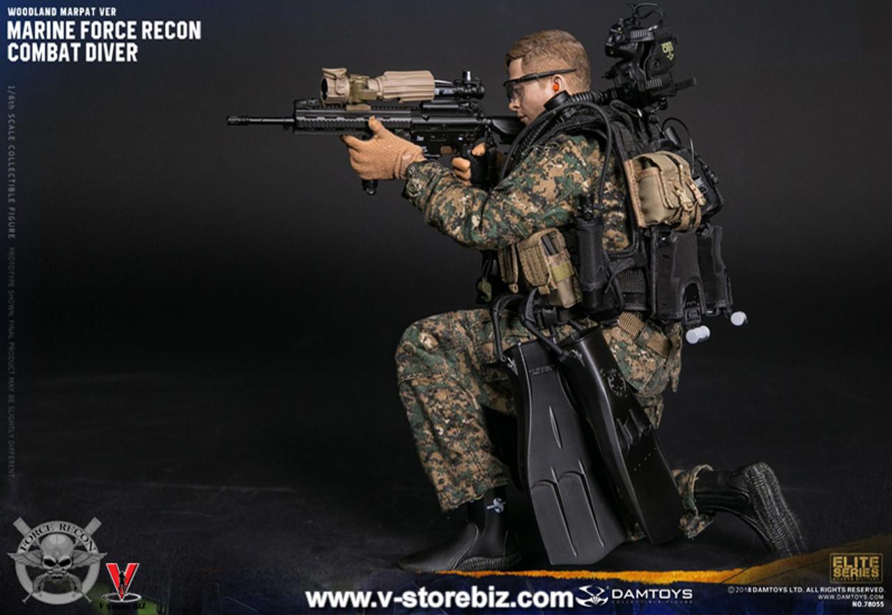 DAMTOYS 78055 1:6 MARINE FORCE RECON COMBAT DIVER WOODLAND MARPAT VER Uniform