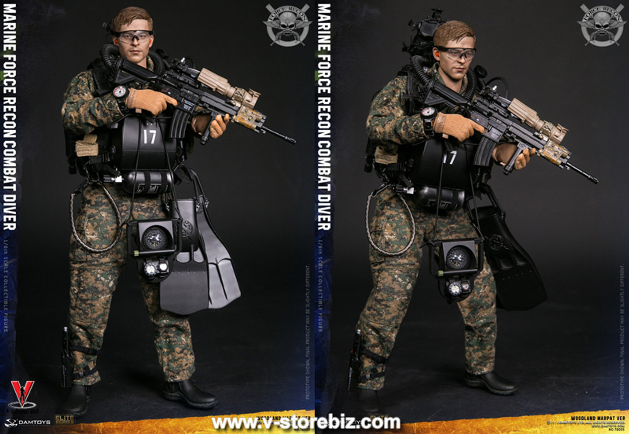 "DAMTOYS 78056 1//6 Marine Force Recon Combat Diver Uniform For 12/"" Male Figure"