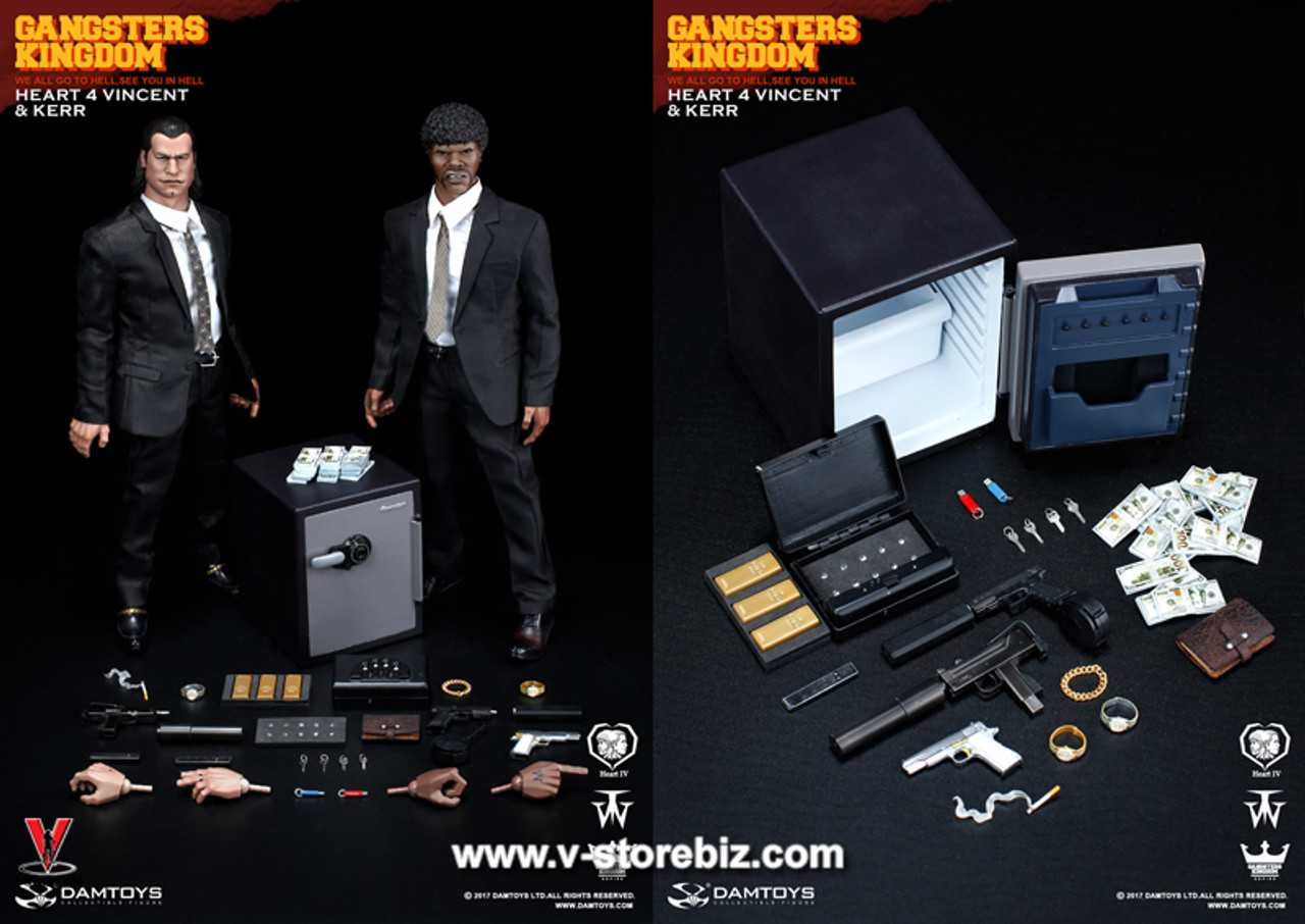 Gangsters Kingdom Vincent /& Kerr Small Safe w// Gold /& Diamonds #1-1//6 Scale