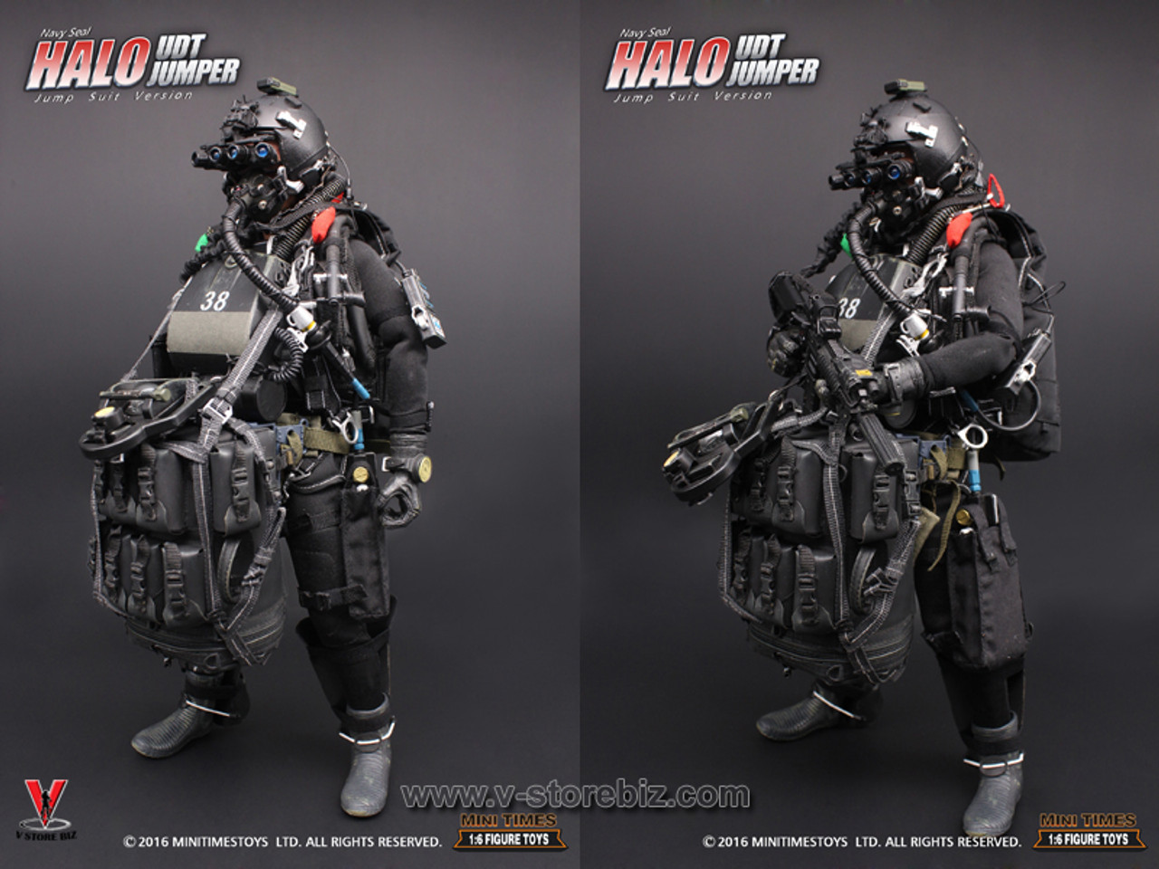HALO UDT Jumper 1//6 Scale Flippers Mini Times Action Figures