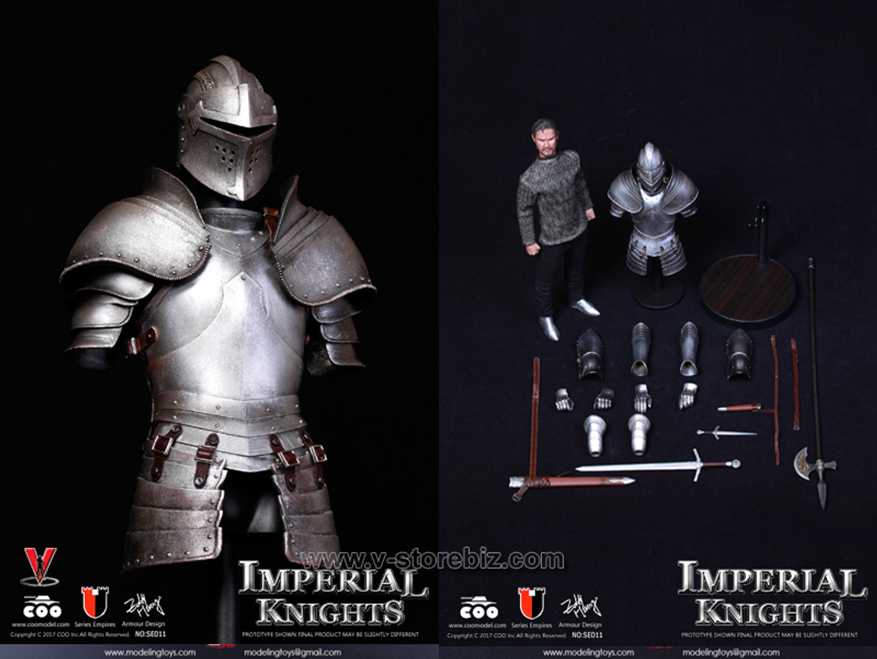 COOModels Knights of the Realm Household Cavalry 2 Head Sculpt loose 1//6th scale