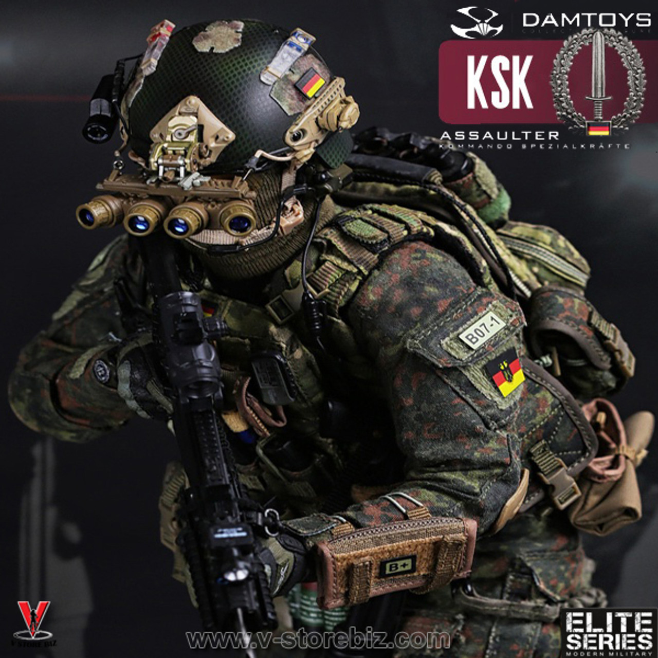 Damtoys Action Figures GPS /& Body Light KSK Assaulter 1//6 Scale