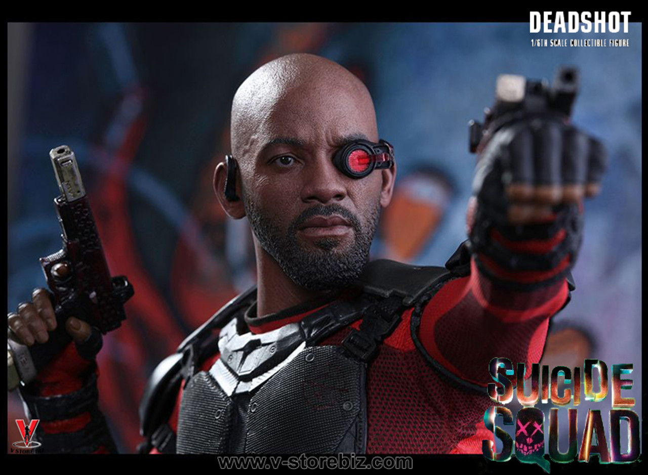 1//6 scale Hot Toys MMS381 1//6 Scale Suicide Squad DeadShot Masked Headsculpt wit