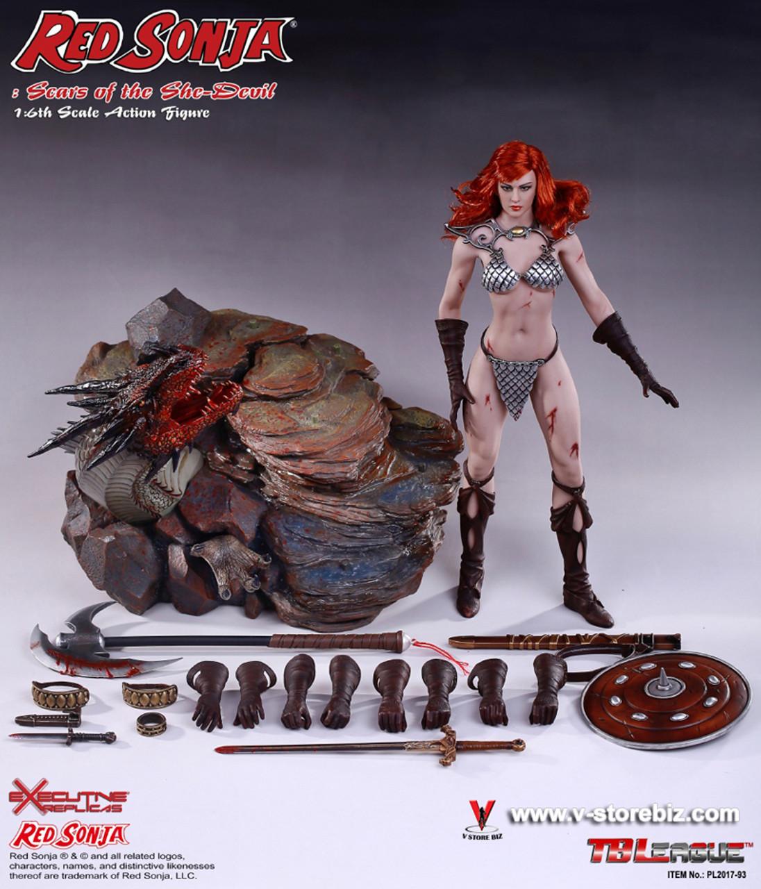 Scars of the She-Devil 1//6 FIGURE w// Base PHICEN Seamless Female Body Red Sonja