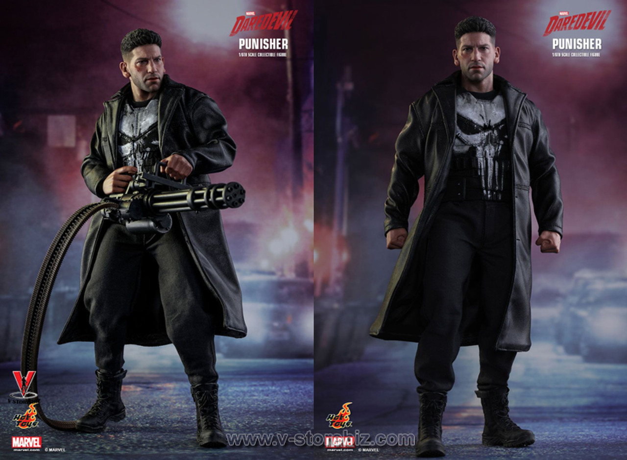 1//6 Scale Toy Marvel The Punisher White Gloved Hands Set x10