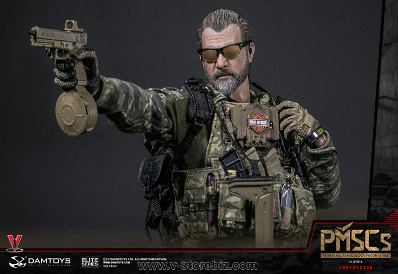 HANDS SET X3 1//6 Scale DAMTOYS 78041 PMSCs CONTRACTOR IN SYRIA