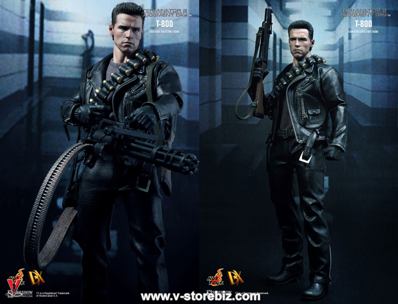 HOT FIGURE Toys 1//6 Terminator 2 Judgment Day T800 Leather suit