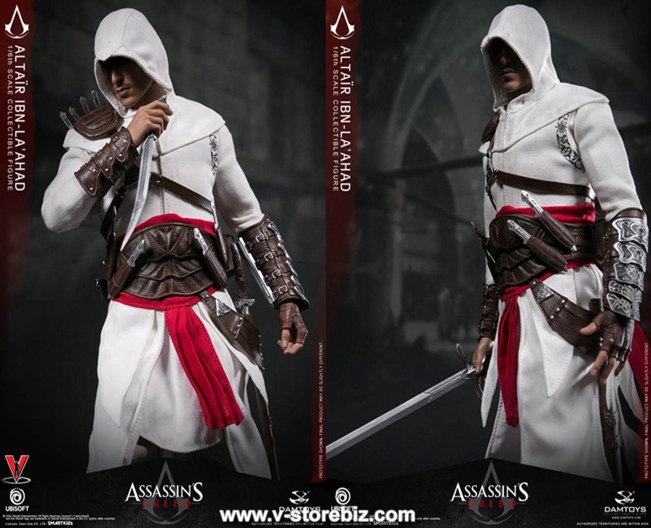 DAMTOYS DMS005 Assassin/'s CreedⅠ1//6 Altair Collectible Action Figure Model Stand