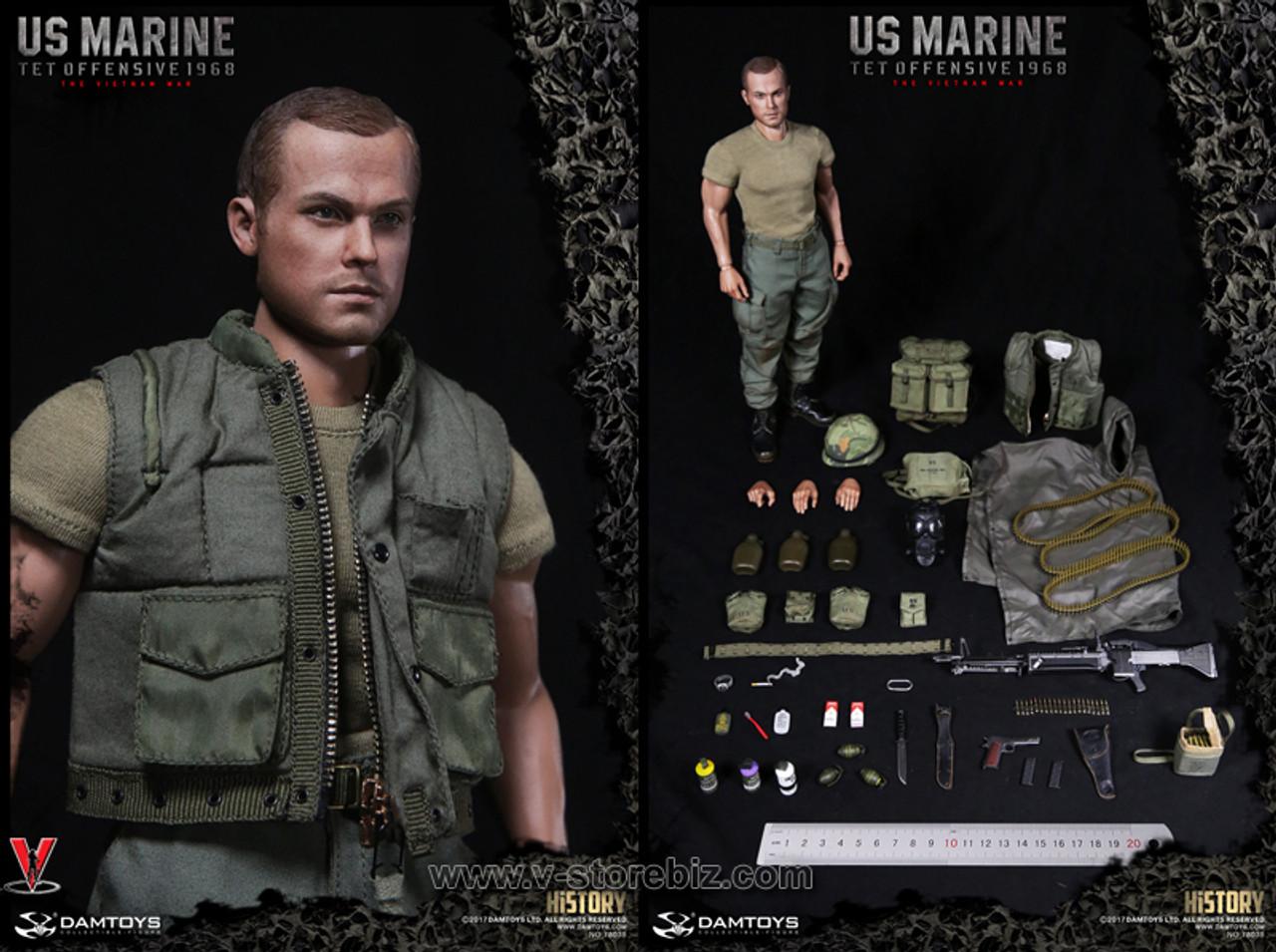 1:6 scale DAM TOYS 78038 USMC TET OFFENSIVE Vietnam War Body w full arms