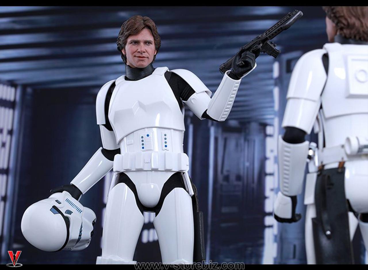 1//6 scale toy Star Wars Han Solo and Luke Skywalker in Stormtrooper Communicator