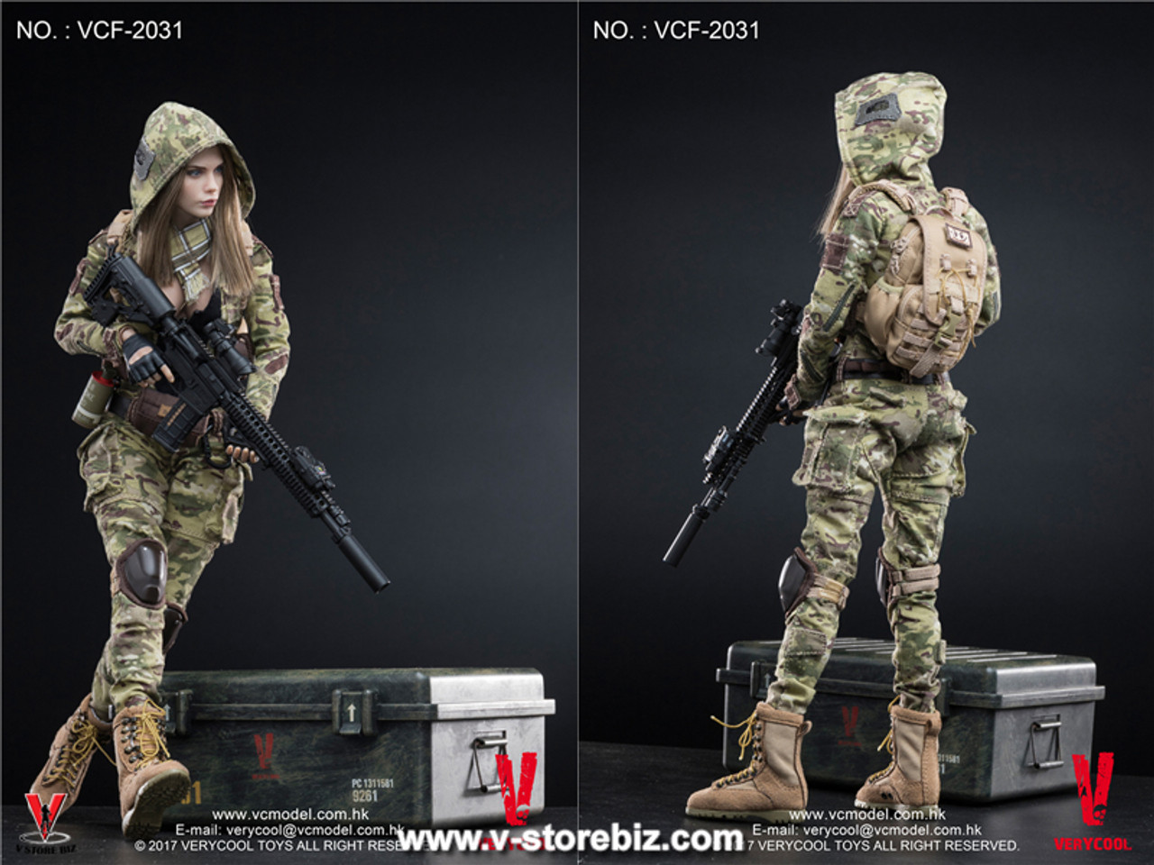 1//6 Verycool Villa Python Female Action Figure M4 corps VCF 2035B