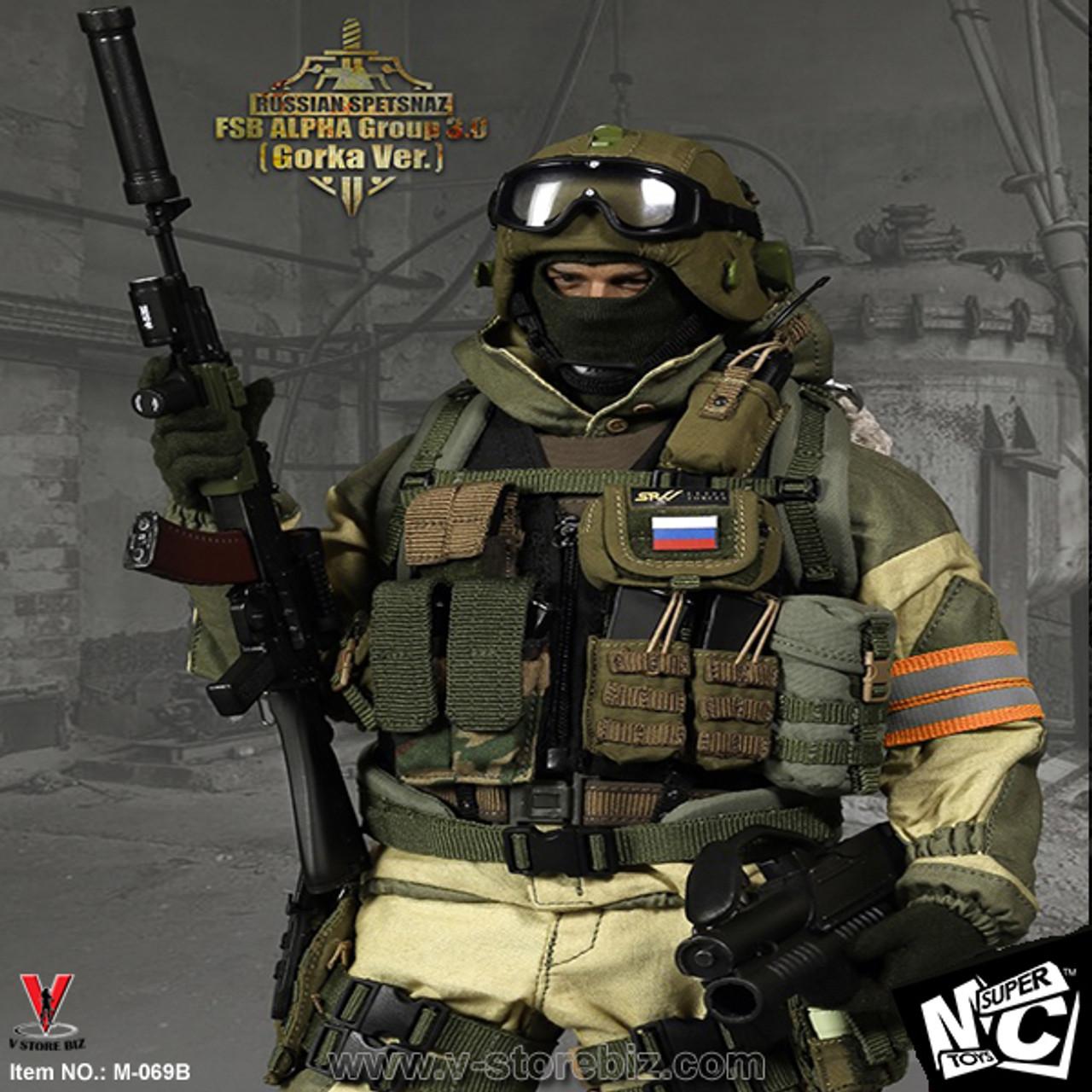 1//6 Scale Russian Spetsnaz FSB Alfa Group 3.0 Black Radio