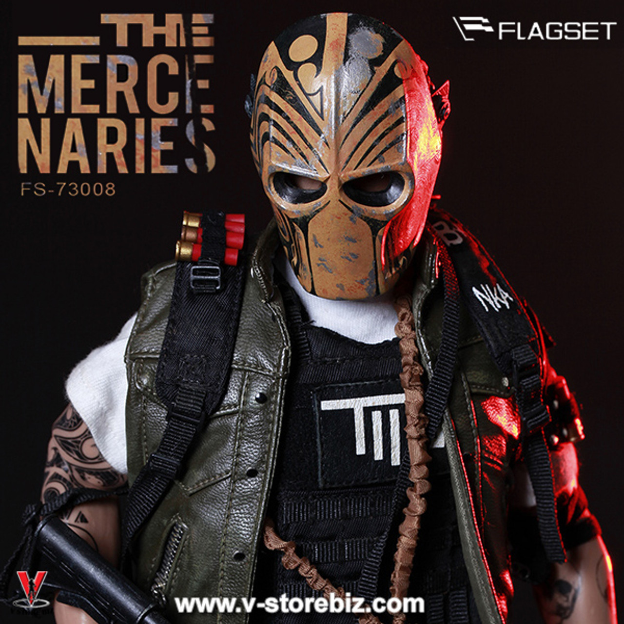 FLAGSET FS-73008 1//6 Male Masked Mercenaries 2.0 Action Figure Toy IN STOCK