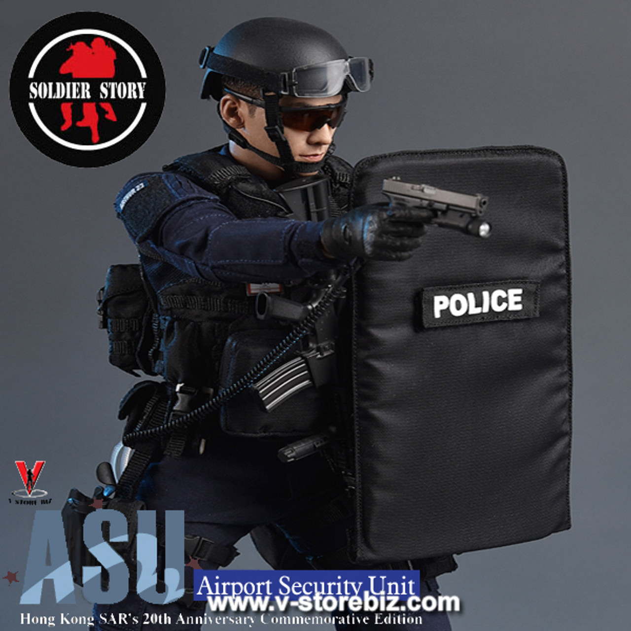 1//6 Scale Soldier Story SS103 HK Airport Security Unit ASU gloved hands x 3