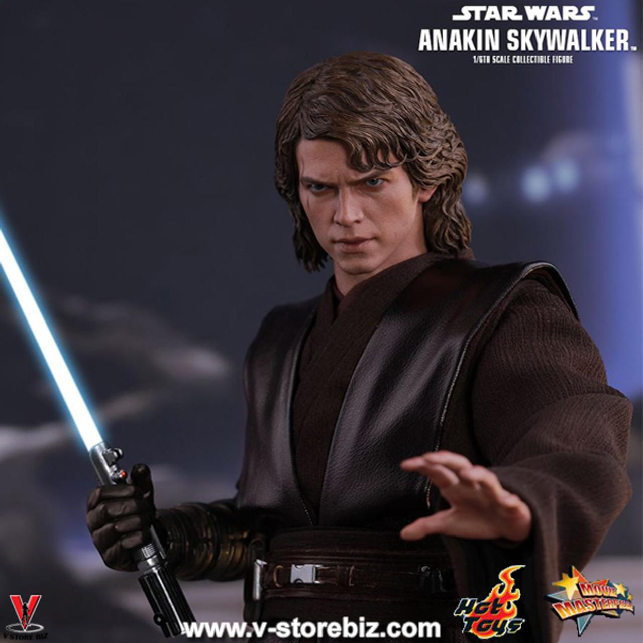 Hot Toys MMS437 1//6 Star Wars Anakin Skywalker LED Light Interchangeable Arm