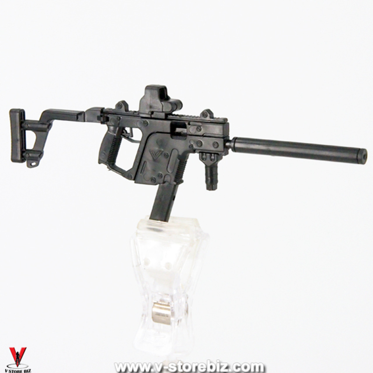 1//6 Scale Toy KRISS Vector SMG Black Suppressor