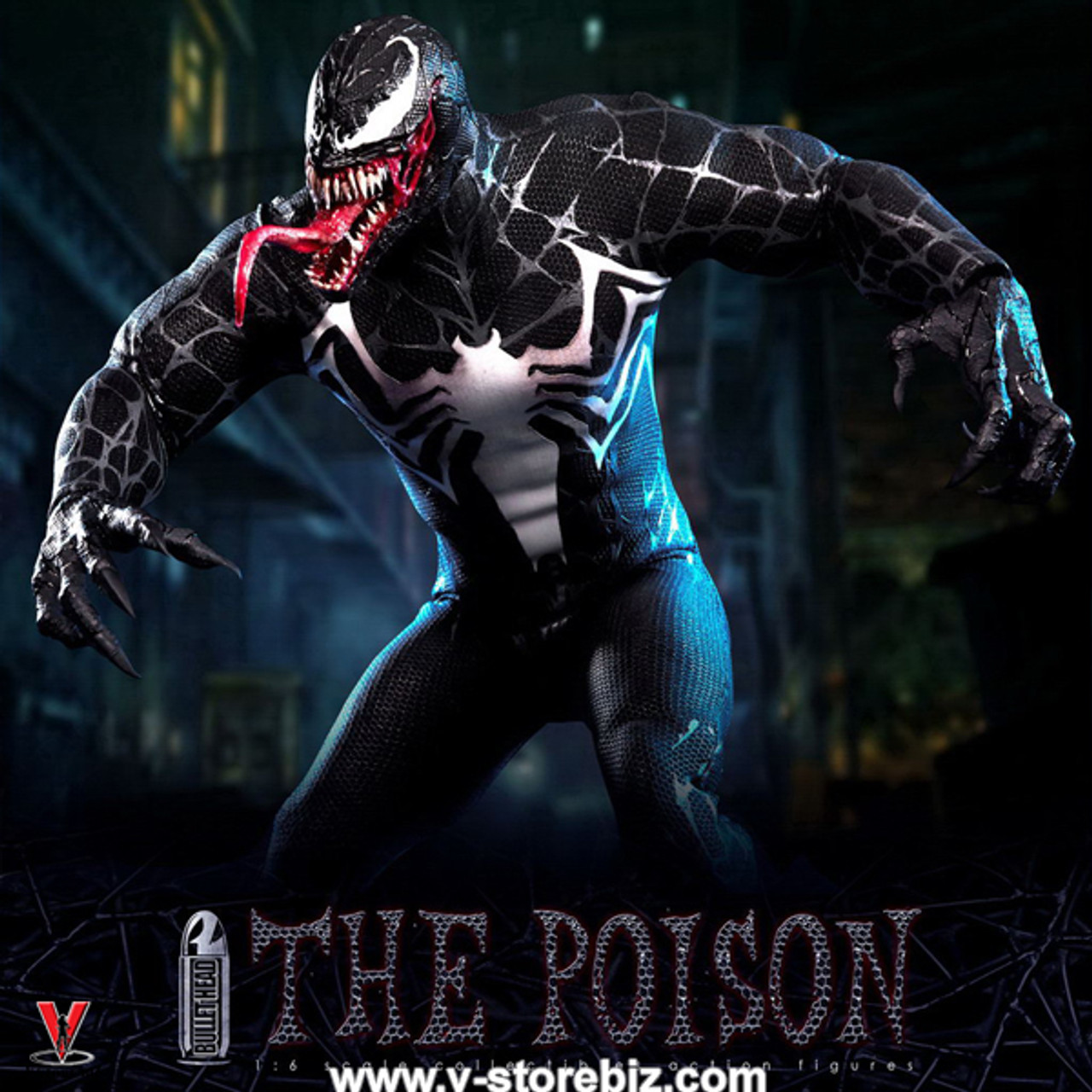 1//6 Scale Bullet Head BH002 THE POISON Venom Action Figure In STOCK