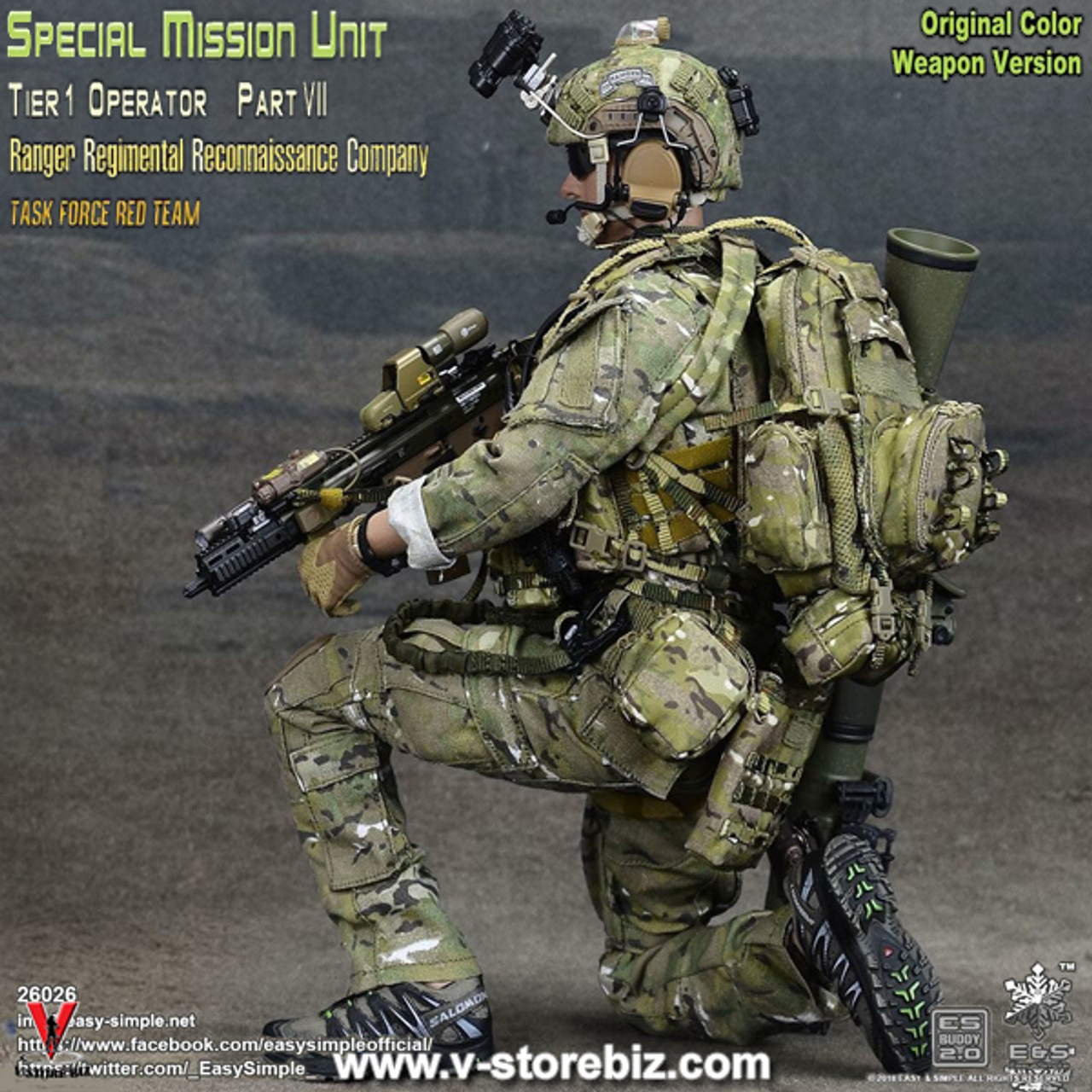 Easy/&Simple ES26037 1//6 SMU Ranger Regimental Reconnaissance Company Coat Pants