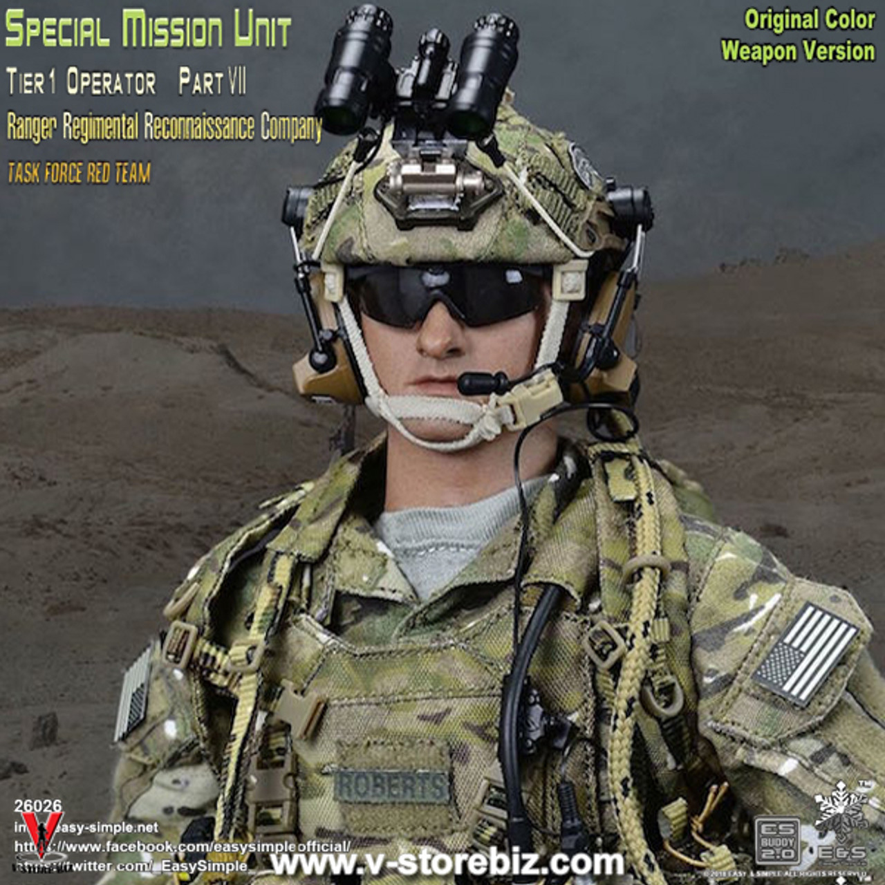 1//6 Easy Simple 75th Ranger RRC Multicam Hand Warmer Pouch