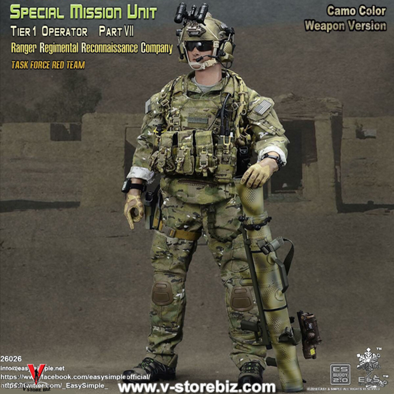 1//6 Scale Toy US Ranger RRRC Male Base Body w//Head Sculpt