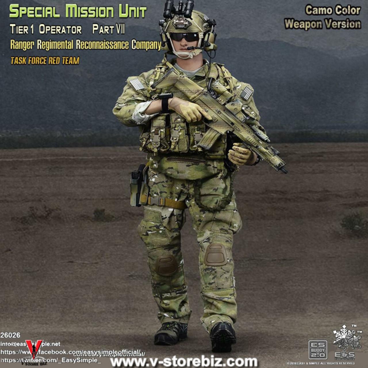 Multicam Combat Uniform Set w//Kneepads 1//6 Scale Toy Army Ranger RRC