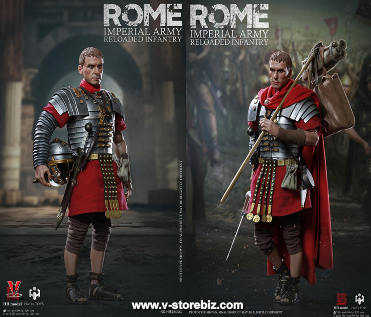 1//6 HH model /& HaoYu TOYS Rome Imperial Army Reloaded infantry Soldier Figure
