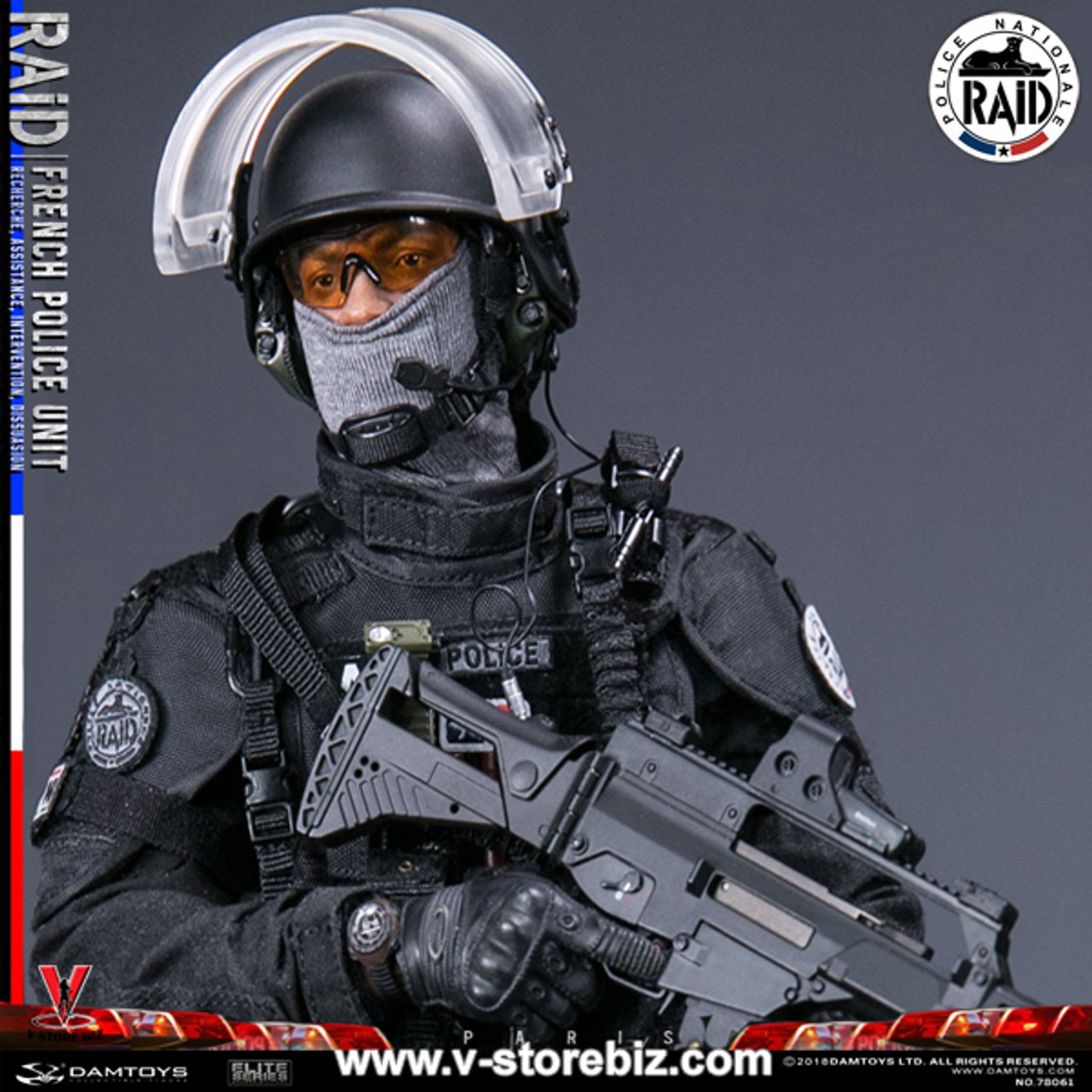 "DAMTOYS 78061 1//6 Scale French Police Unit Raid in Paris 12/"" Figure Gloves Hands"