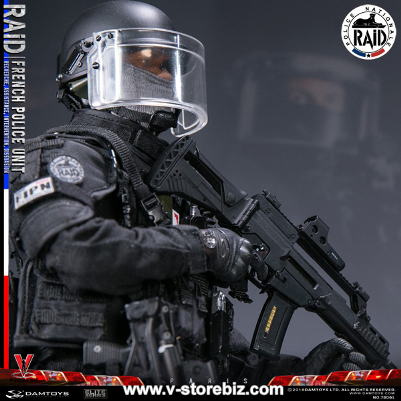 Dam DAMTOYS 78061 1//6 Scale FRENCH POLICE UNIT RAID IN PARIS MISB In Stock