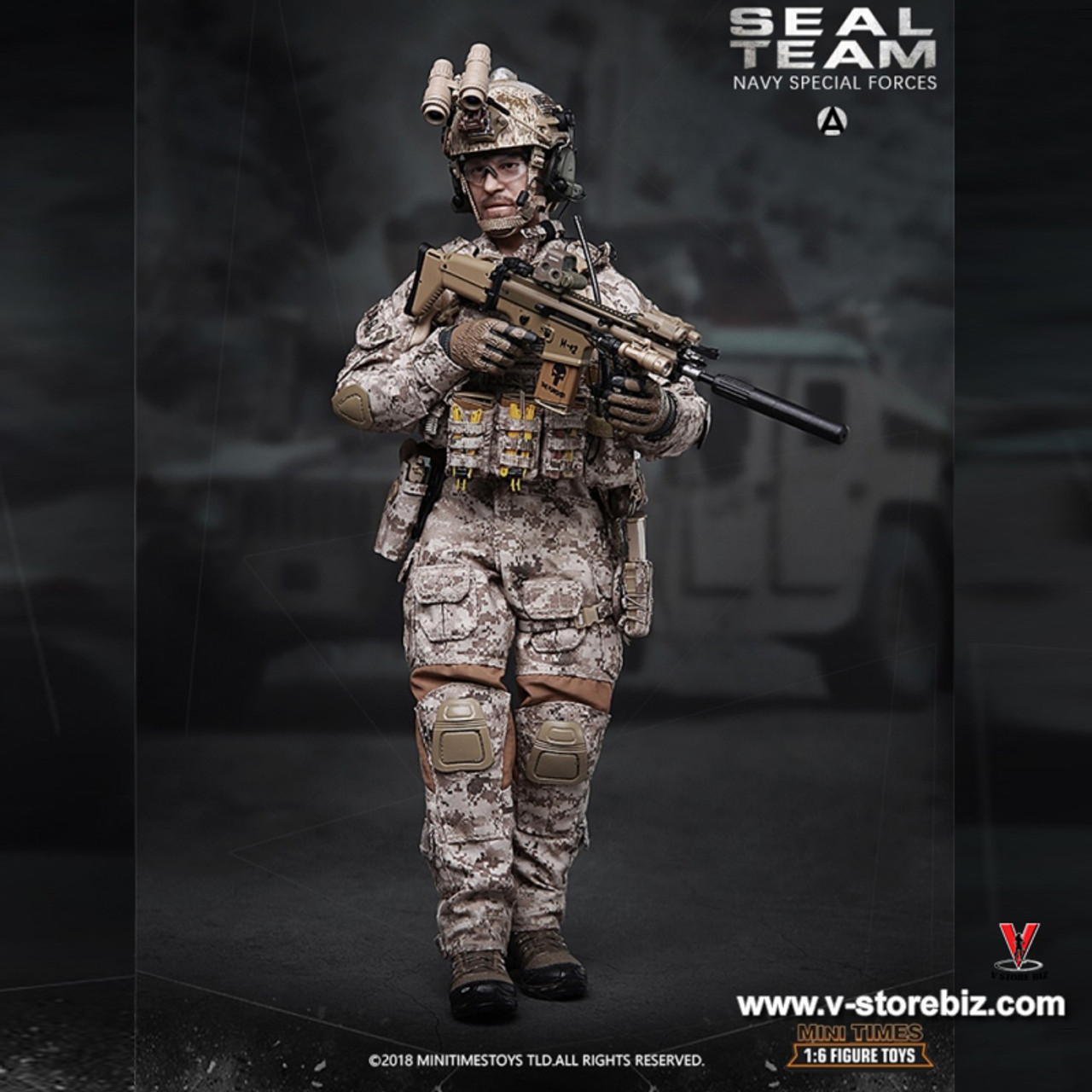 MINITIMES MK17 Rifle NAVY SPECIAL FORCES SEAL TEAM 1//6 ACTION FIGURE TOYS dam