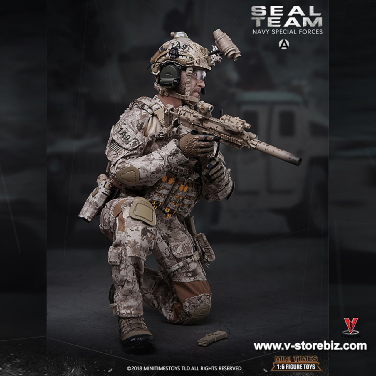 Female SEAL HALO HK Rifle Mags 1//6 Scale Mini Times Action Figures