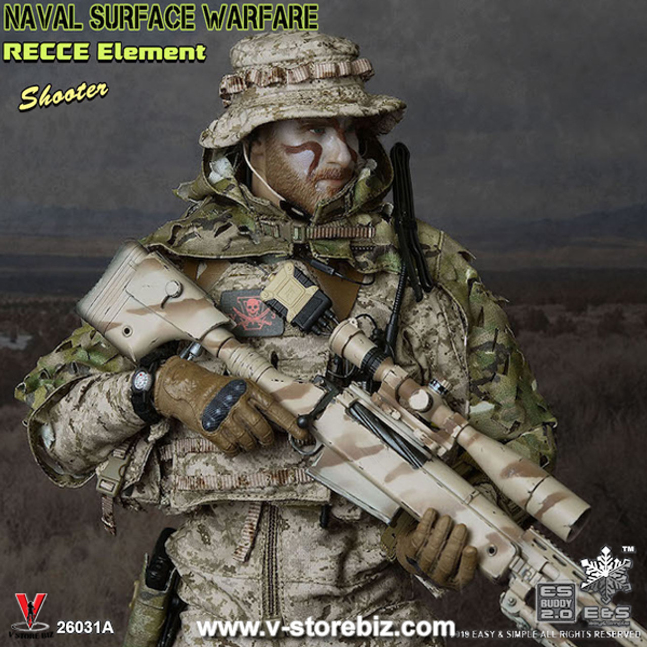 Camouflage Uniform B for Easy/&Simple ES 26031 NSW RECCE TEAM 1//6 Scale Figure