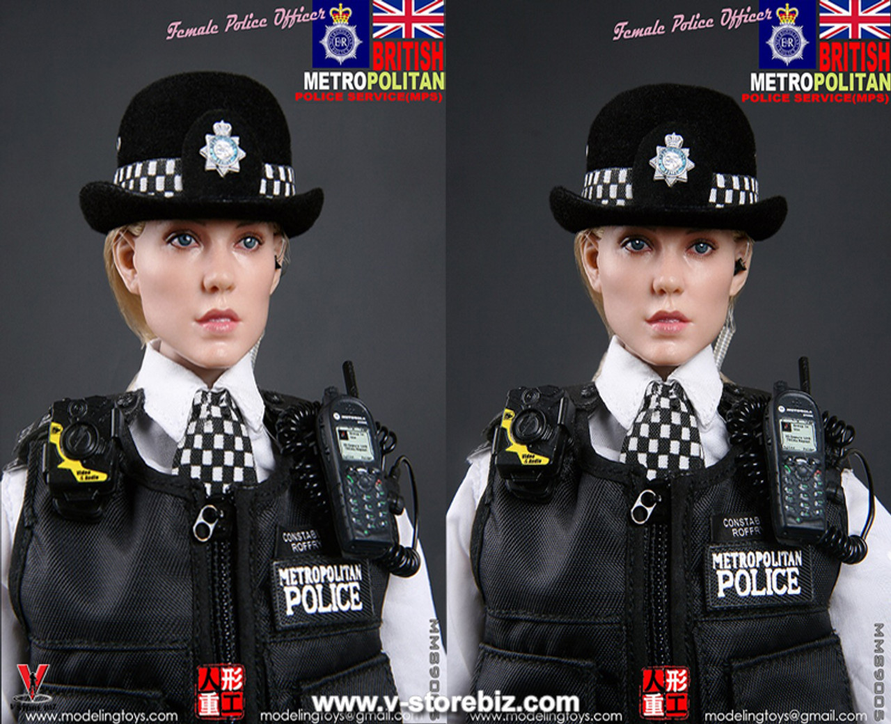 MODELING TOYS 1//6 MILITARY SERIES MPS BRITISH METROPOLITAN POLICE SERVICE