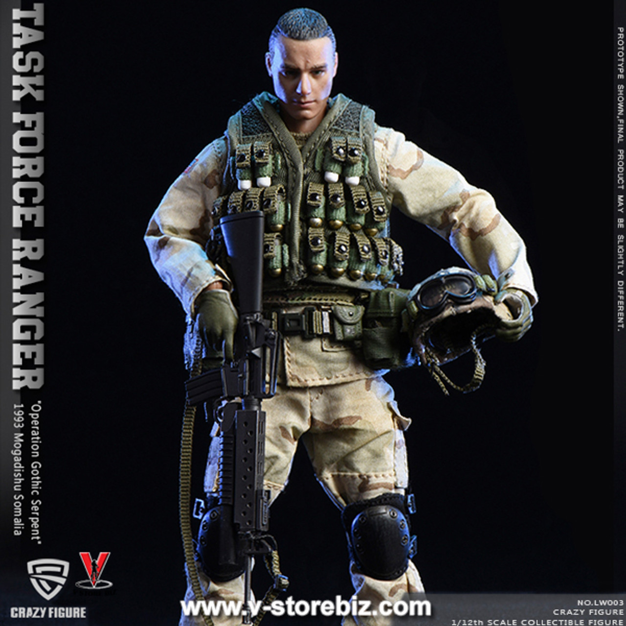 Grenadier Male Head Sculpt 75th Ranger 1//12 scale toy