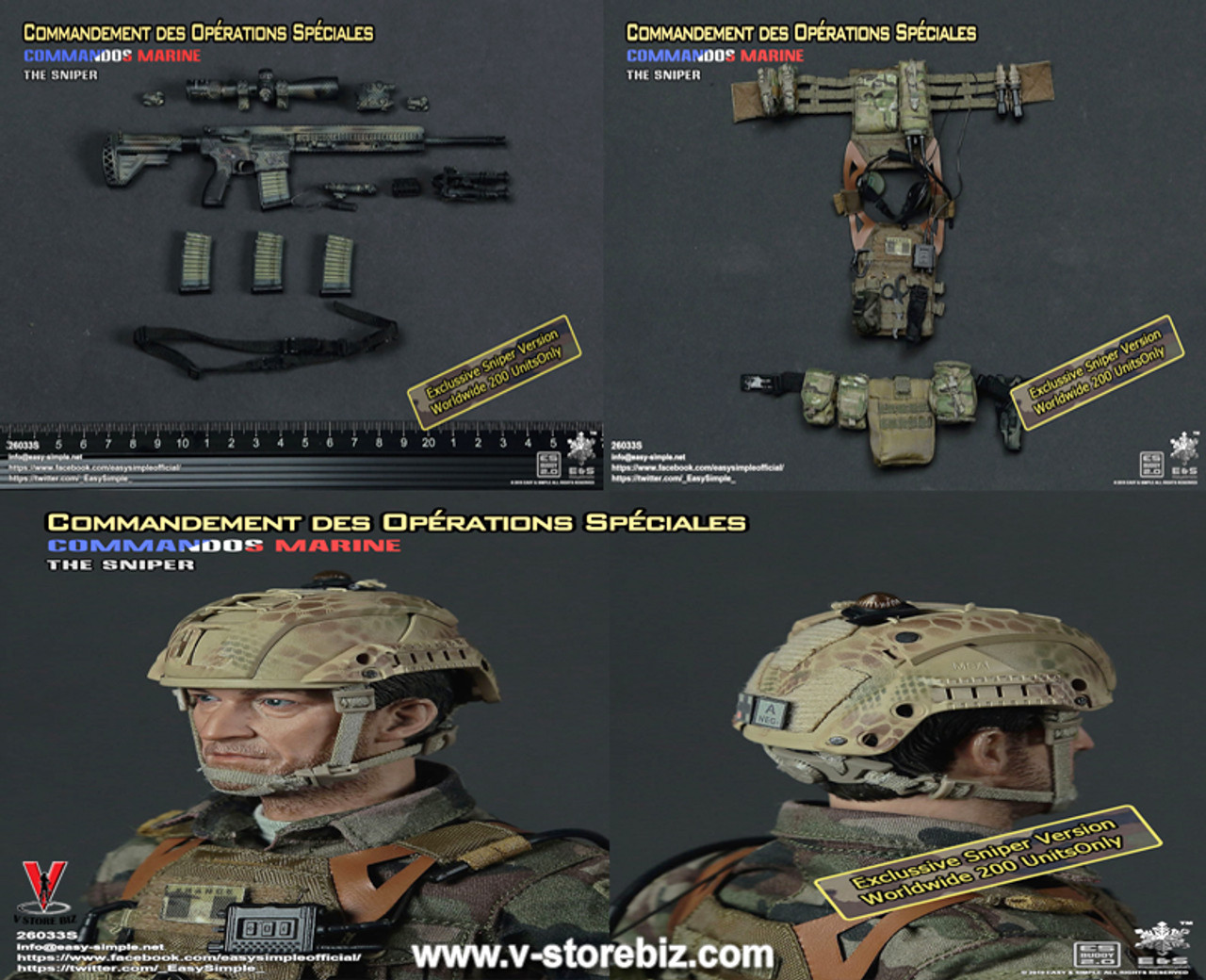 1//6 Easy/&Simple Commandement Des Operations Speciales Sniper 26033S Easy Simple