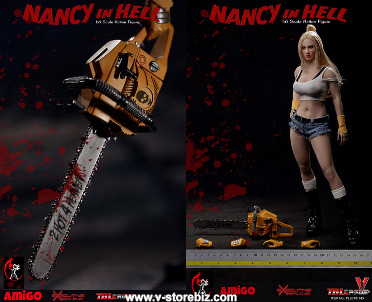 TBLeague Action Figures Nancy in Hell 1//6 Scale Black Bra