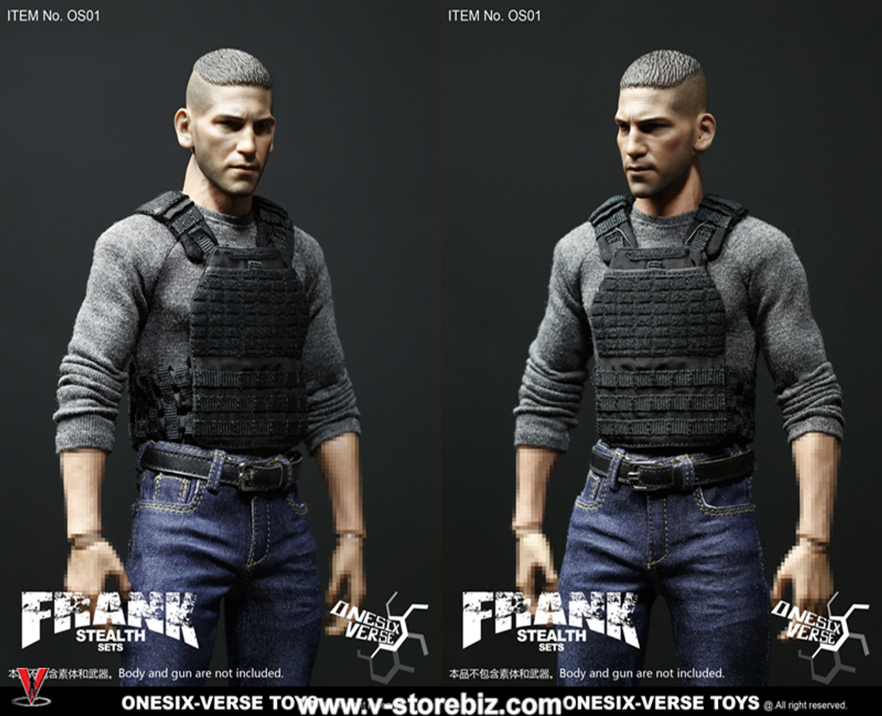 1//6 Frank Stealth Clothing /& Head Sets by ONESIX-VERSE TOYS