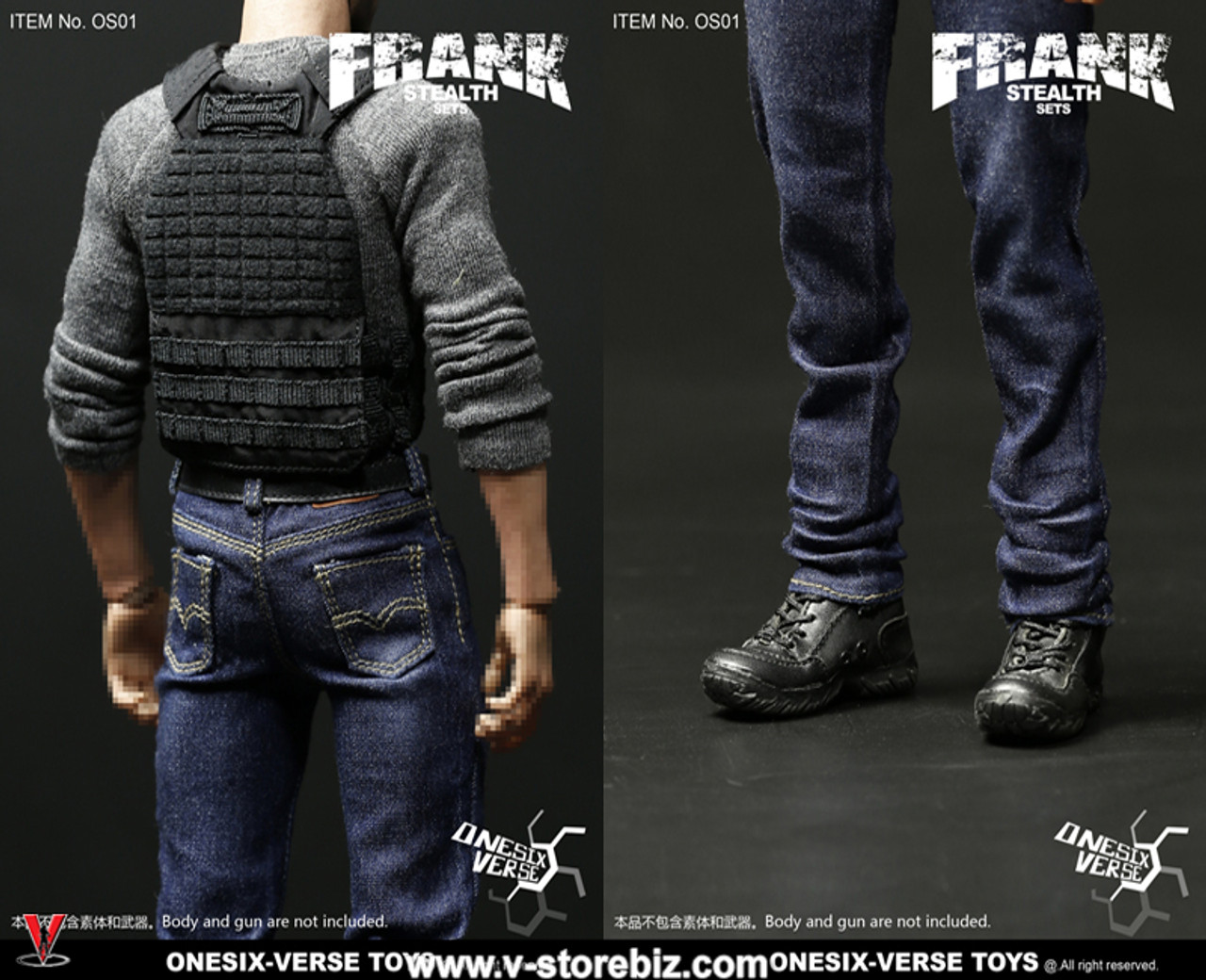 ONESIX-VERSE TOYS OS01 1//6 Scale FRANK STEALTH SETS With Head Sculpt Brand New