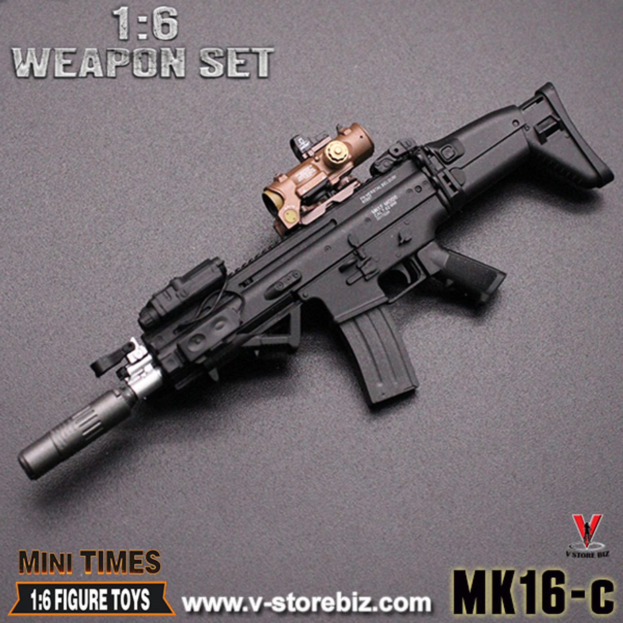 1//6 Scale Toy RIFLE Tan EGLM 7.62 Heavy Grenade Launcher Attachment