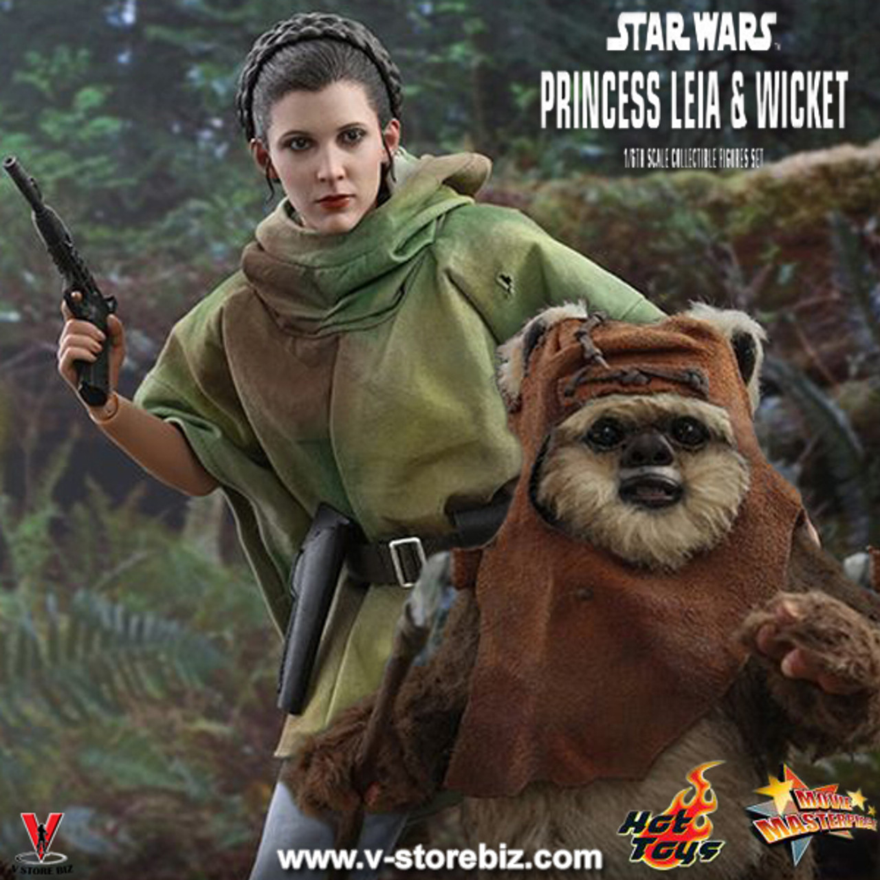 Hot Toys Mms551 Star Wars Return Of The Jedi Princess Leia Wicket V Store Collectibles